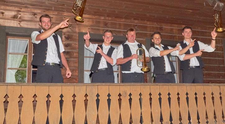 Flügelhorn: Bernd, Christian, Udo, Daniel, Philip