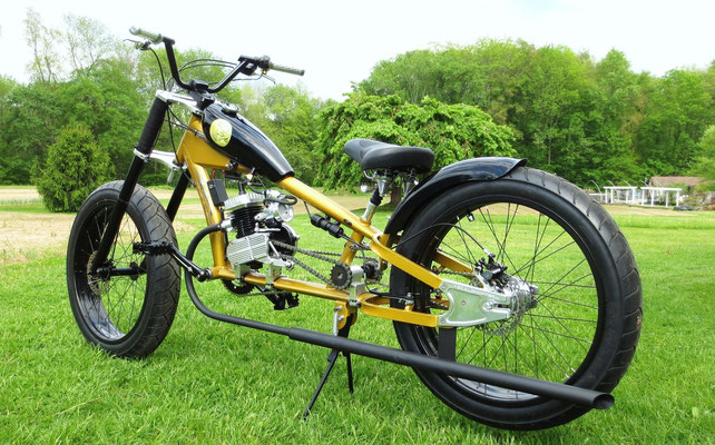 24 inch front and rear with sturmey archer 3 speed rear hub