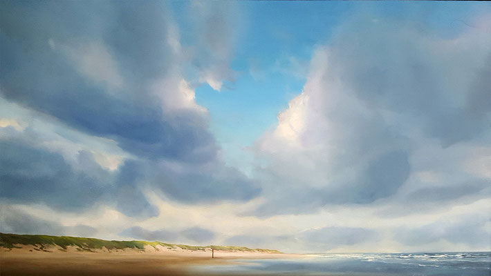 TEXEL - oil on panel 60 x 120 cm AVAILABLE at galerie Artfusion Amsterdam