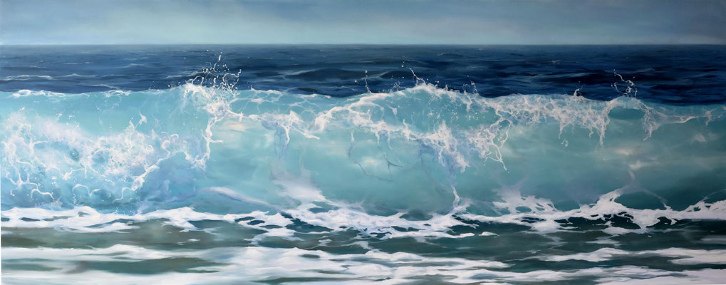 MYKONOS PARADISE BEACH - oil on panel 80 x 203 cm AVAILABLE at Collectie Rolde