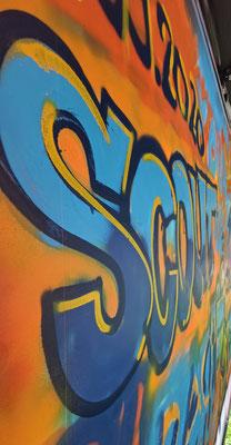 SCOUT24, Idee kreativ, Grafik, Beschriftungen, Werbetechnik, Wandgestaltung, Graffiti Workshops, Bern, Zürich,