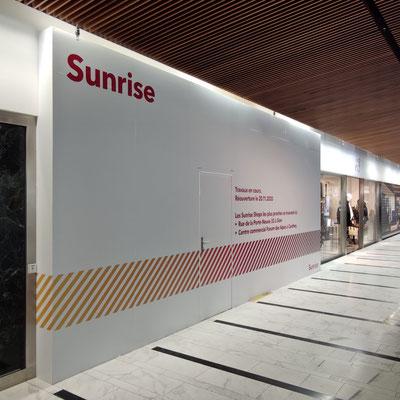Sunrise Switzerland, Idee kreativ, Grafik, Werbetechnik, Wandgestaltung, Kreativ, Bern, Zürich, Schweiz