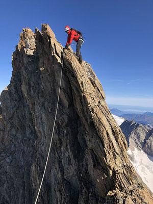 Luftige Passage, auch für den Nachsteiger.