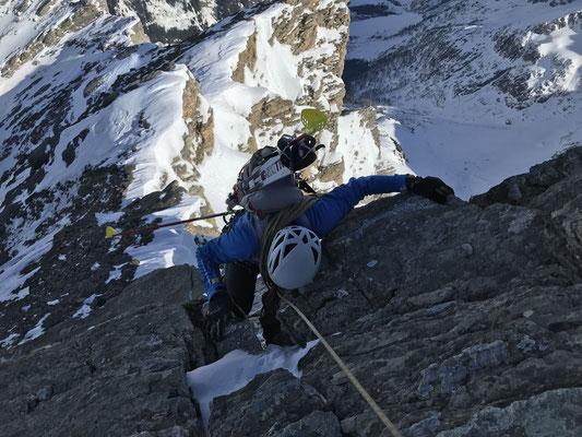 Hübsche Kletterei auf dem Wildelsiggrat.