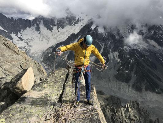 Geschafft - Peter auf dem Gipfel. (Foto: Rolf)