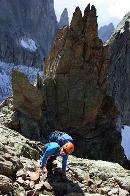 Kameramann Geri Gafner geniesst den schönen Gneis