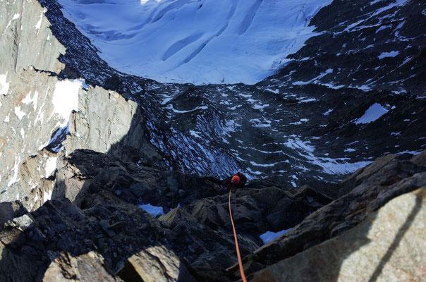 Die letzten Meter unter dem Gipfel.