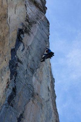 Prächtige, kletterfreundliche Finne in der 12. Länge (Foto: B. Rathmayr)