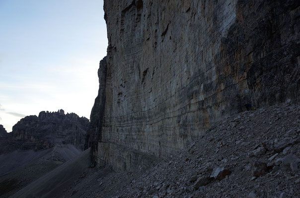Am Fuss der Grossen Zinne Nordwand