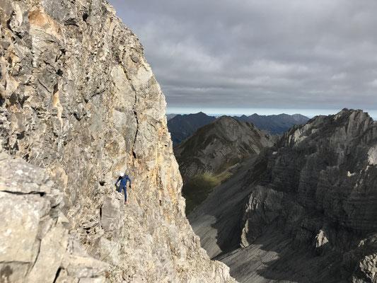 Aufstieg Hindere Loner über den NE-Grat. Foto: Rolf Z.