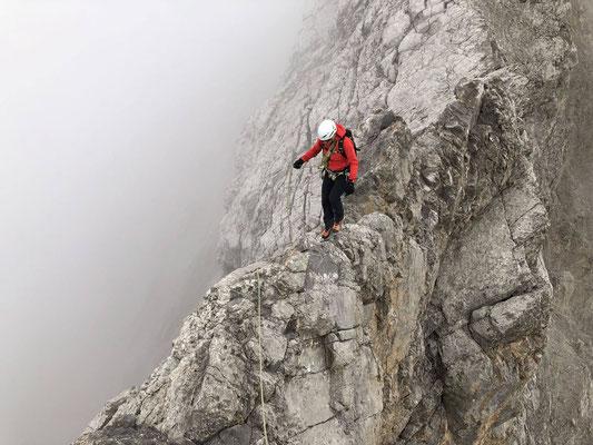 Abstieg vom Vordere Loner über den hübschen und kompakteren Westgrat.