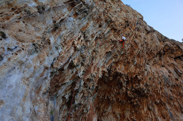 Prächtig strukturierter Fels.