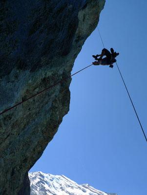 Einrichten, Aufstieg Steigklemmen