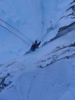 Klettern mit Tiefblick