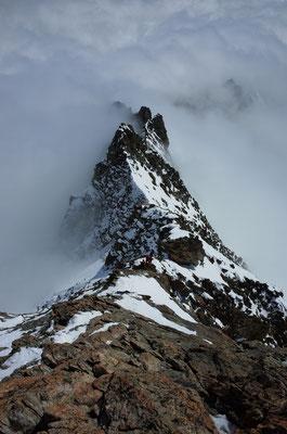 Gipfelgrat im Abstieg
