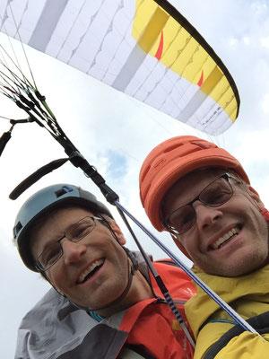 Bernd und Peter beim Abstieg.