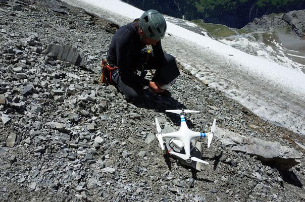 Bereitmachen der Drohne.