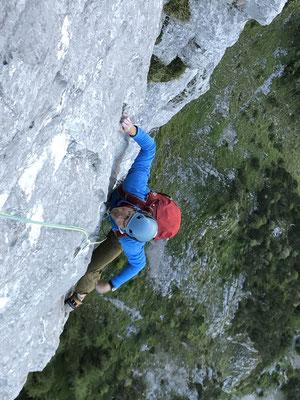 5.7.: Stotzig obsig, anstrengend mit Rucksack. (Bild: Rolf Zurbrügg)