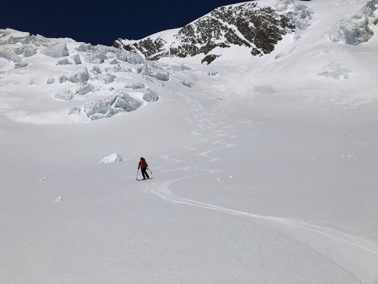 Der Abbruch auf ca. 3300 m.
