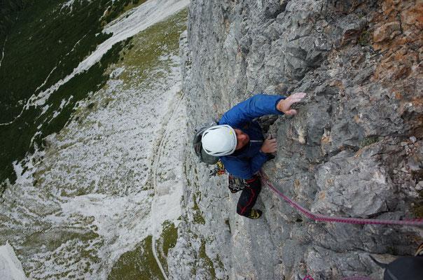 Typisch griffiger, steiler Fels