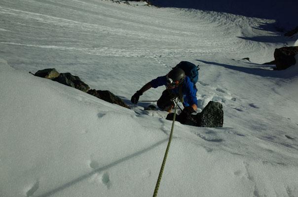 Die erste Schwierigkeit auf ca. 3400m.
