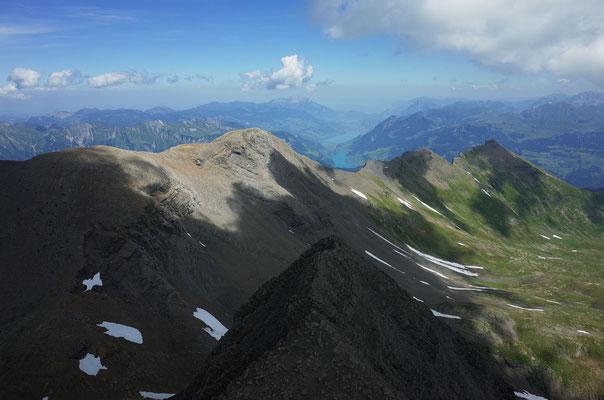Über dem Schwarzhorn, Blick Richtung Innerschweiz.