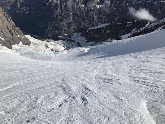 Im Aufstieg, Vorfreude auf das schöne Skigelände