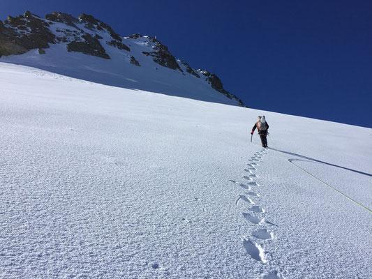 6.7.: Mühsamer Aufstieg über den Hohfirn.