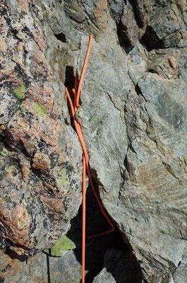 Rope Catcher beim Abstieg über den Normalweg.