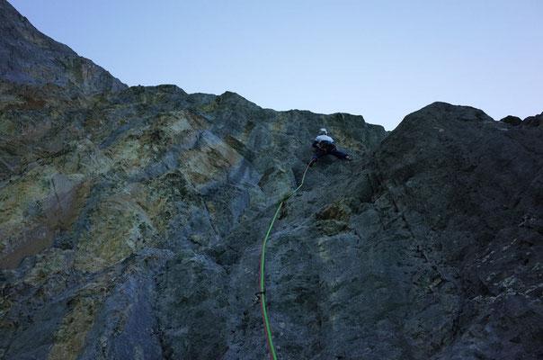 Die steile, griffige, zweitoberste Länge