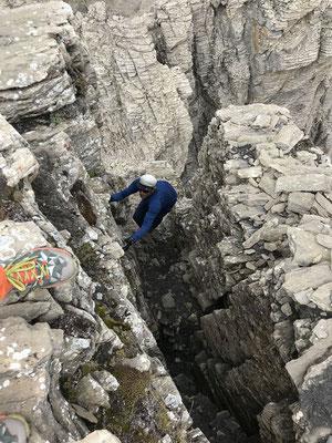 Peter klettert aufs Tschingellochtighore. Foto: Rolf Z.