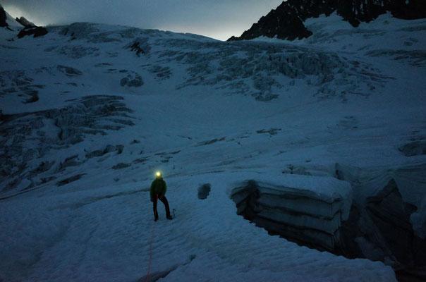 Tiefe Löcher: Oberer Grindelwaldgletscher