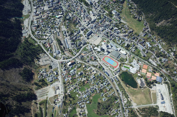 Im Anflug auf Chamonix.