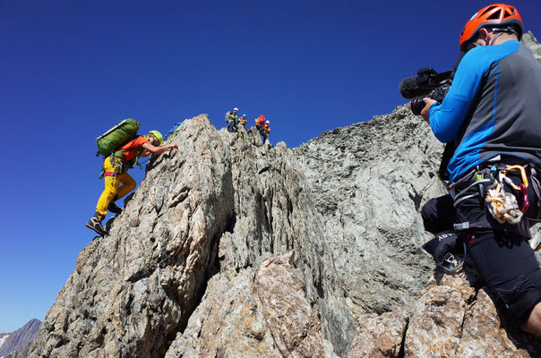 Diese Kletterstelle wurde auch filmisch festgehalten