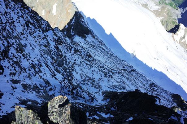 Blick in die winterliche Nordwand.