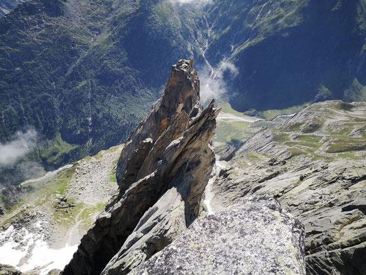 Blick zurück über den Grat. (Foto: Franz)