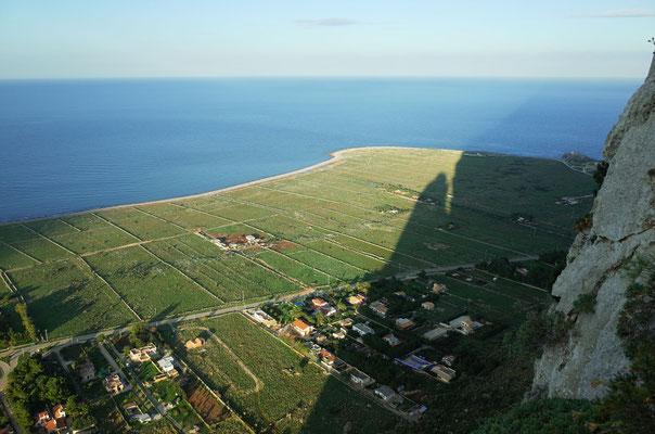 Schattenwurf des Parete Nord und Monte Monaco.