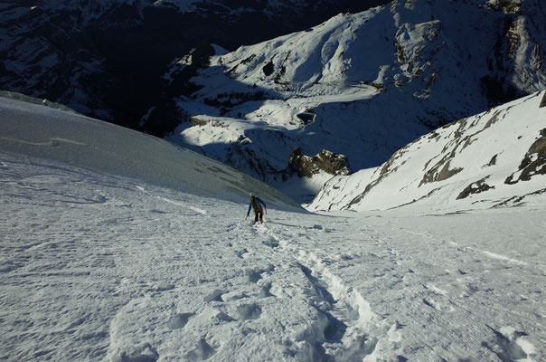 Abstieg Westflanke