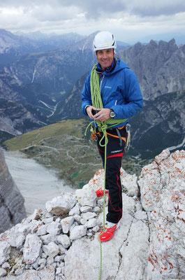 Rolf auf dem Gipfel der Grossen Zinne