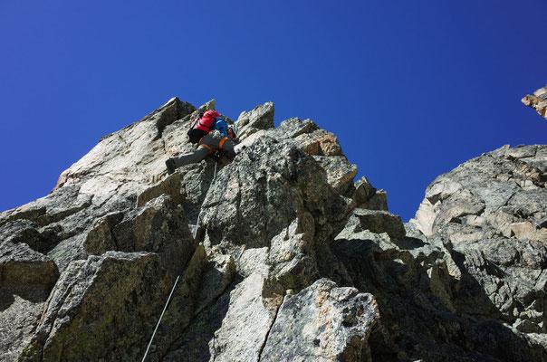 Prächtige Kletterei am Pointe Bifide.