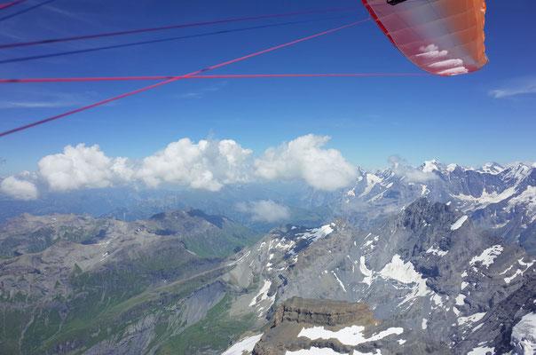 Blick zurück Richtung Startplatz Grindelwald First.