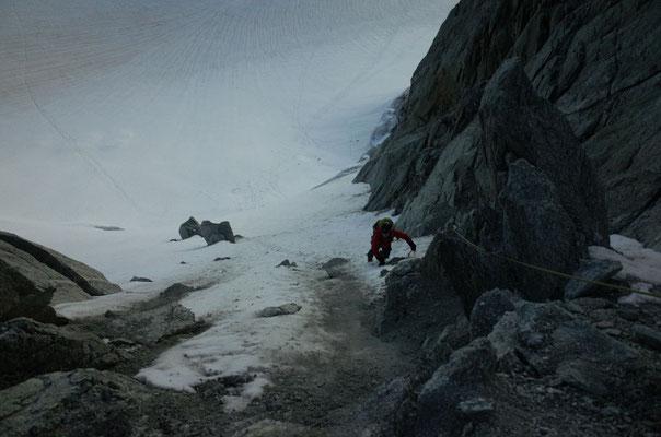 Einstiegs-Eisflanke.