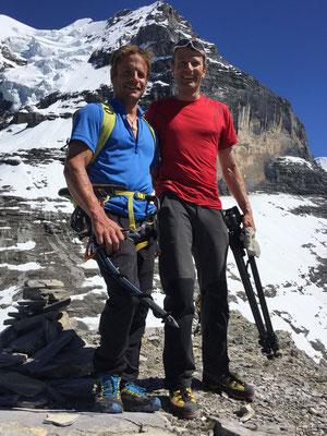 Roger und Peter auf dem Schwarzen Grat.