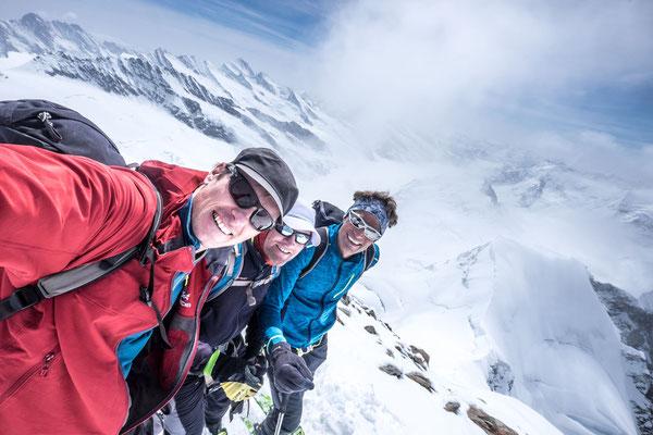 Gipfel-Selfie: Lukas, Toni, Peter. (Foto: Lukas Rohr)