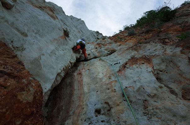 Ausklettern am Monte Pellegrino, Mariella Crack'n Up