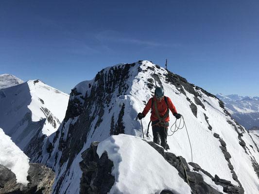 Auf den letzten Metern vor dem Altels-Skigipfel. (Foto: Rolf)