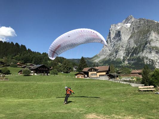 Landung in Grindelwald.
