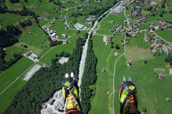 Landung in Grindelwald