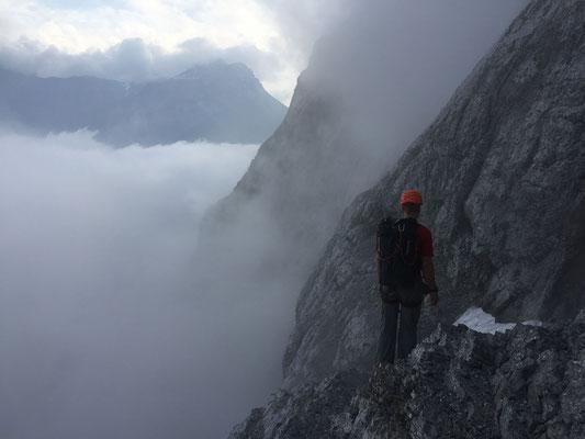 Alpiner Zustieg.