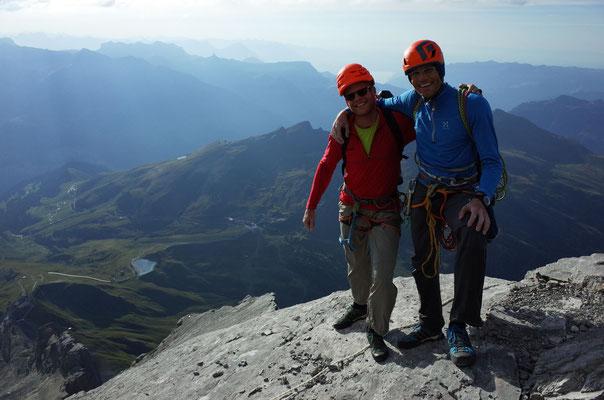 Auf dem Pilz: Bernd (l) und Peter (Foto: F. Kretschmann)